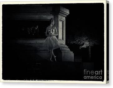 Midnight Ballerina New York City Canvas Print by Sabine Jacobs