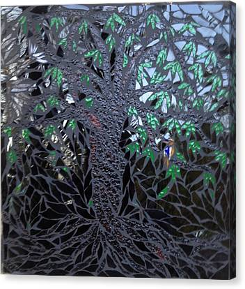 Midnight Banyan Canvas Print by Alison Edwards
