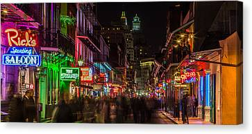 Midnight On Bourbon Street Canvas Print by John McGraw