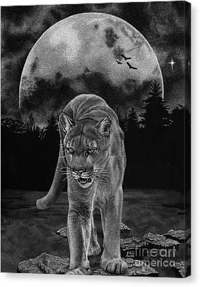 Midnight Patrol Canvas Print by Sheryl Unwin