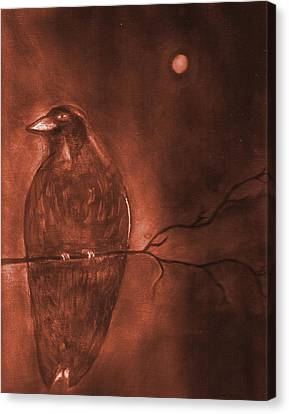 Midnight Solitude Canvas Print by Noreen  Withrow Roux