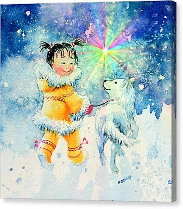 Midnight Sun Friends Canvas Print by Hanne Lore Koehler