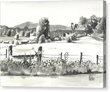Midsummer View Out Route Jj   No I101 Canvas Print by Kip DeVore