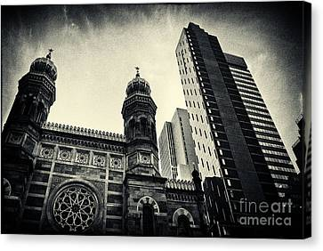 Midtown Synagogue New York City Canvas Print by Sabine Jacobs