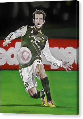 Mike Chewey Chabala Canvas Print by Brian Broadway