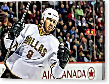 Mike Modano Canvas Print by Florian Rodarte