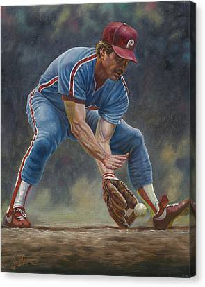 Mike Schmidt Canvas Print by Gregory Perillo