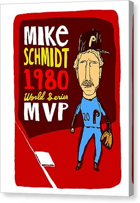 Mike Schmidt Philadelphia Phillies Canvas Print by Jay Perkins