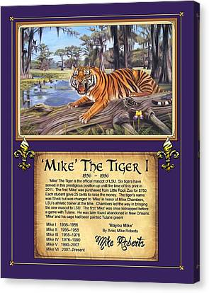 Mike The Tiger I Canvas Print by Mike Roberts
