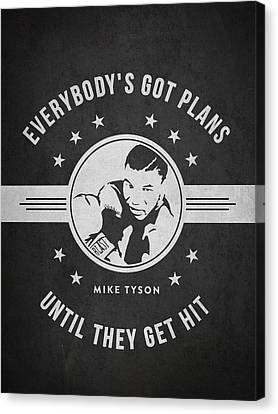 Mike Tyson - Dark Canvas Print by Aged Pixel