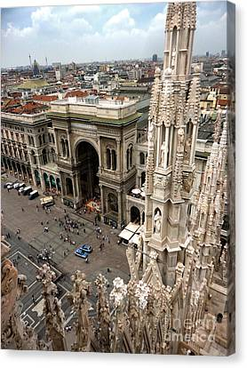Milan Cathedral Square Canvas Print by Gregory Dyer