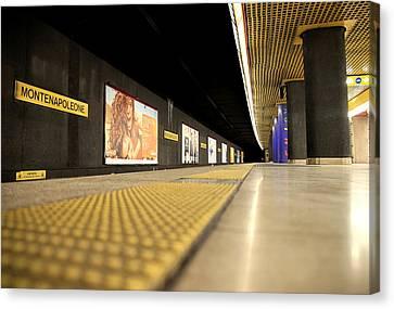 Milan Subway Station Canvas Print by Valentino Visentini