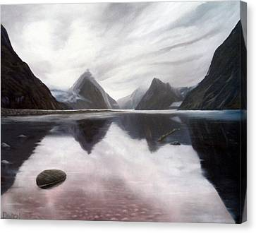 Milford Sound New Zealand Canvas Print by Dawson Taylor