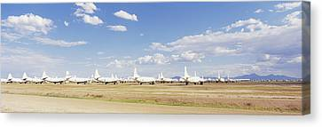 Military Airplanes At Davismonthan Air Canvas Print by Panoramic Images