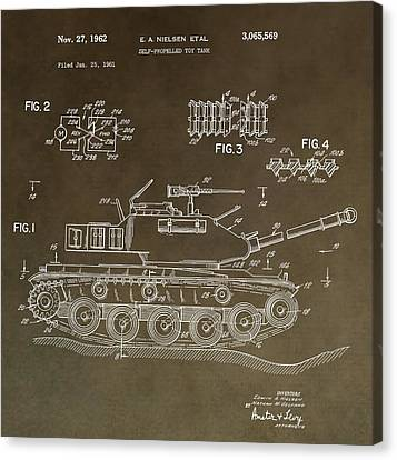 Military Tank Patent Canvas Print by Dan Sproul