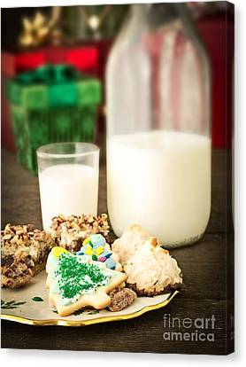 Milk And Cookies Canvas Print by Edward Fielding