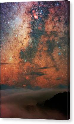 Milky Way And Sagittarius Canvas Print by Babak Tafreshi