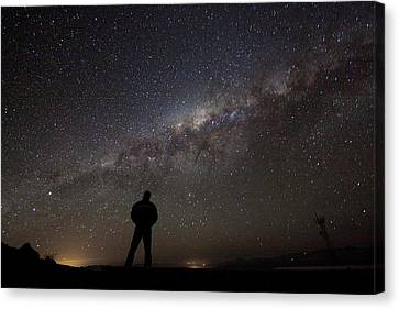 Milky Way From La Silla Canvas Print by Eso/a. Fitzsimmons