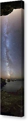 Milky Way Over Coast Canvas Print by Laurent Laveder