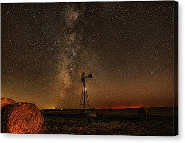 Milky Way Over Kansas  Canvas Print by Chris Harris