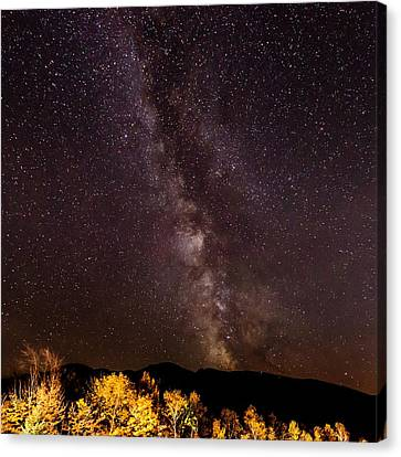 Milky Way Over The Presidentials II Canvas Print by Tim Sullivan