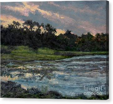 Mill Pond Reflection Canvas Print by Gregory Arnett