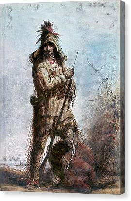 Miller Rocky Mountain Man Canvas Print by Granger