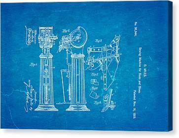 Mills Goodyear Sole Shoe Sewing Machine Patent Art 1869 Blueprint Canvas Print by Ian Monk