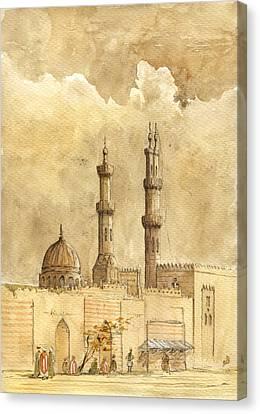 Minaret Of Al Azhar Mosque Canvas Print by Juan  Bosco