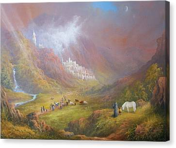 Minas Tirith  War Approaches. Canvas Print by Joe  Gilronan