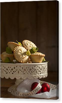 Mince Pie Display Canvas Print by Amanda And Christopher Elwell