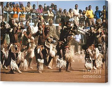 Mine Dancers South Africa Canvas Print by Susan McCartney