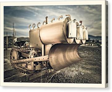 Mini Excavator Mailbox Canvas Print by Yo Pedro