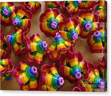 mini Flying Rainbow Lasagnes Canvas Print by Nofirstname Aurora
