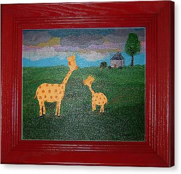 Mini Me Canvas Print by Yvonne  Kroupa