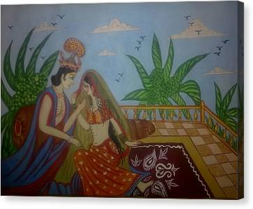 Miniature Art Canvas Print by Syeda Ishrat