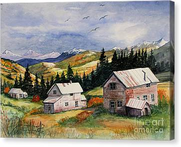 Mining Days Over Canvas Print by Marilyn Smith