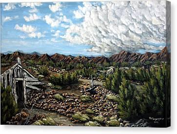Mining Nevada Canvas Print by Julie Townsend