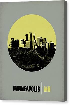 Minneapolis Circle Poster 2 Canvas Print by Naxart Studio