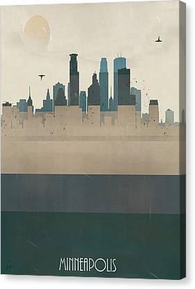 Minneapolis Minnesota Skyline Canvas Print by Bri B