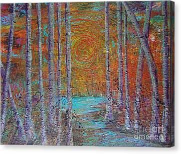 Minnesota Sunset Canvas Print by Jacqueline Athmann