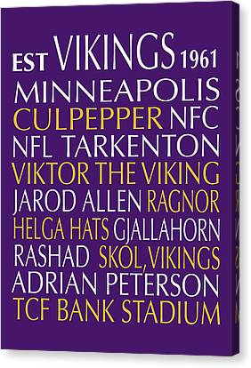 Minnesota Vikings Canvas Print by Jaime Friedman