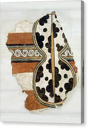 Minoan Livestock Painting Canvas Print by Ellen Henneke