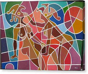 Minoan Lovers Canvas Print by Bala Deva
