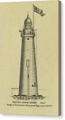 Minot's Ledge Lighthouse Canvas Print by Jerry McElroy - Public Domain Image