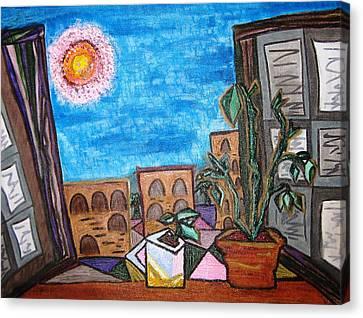 Mint Plant Tea Mediterranean  Canvas Print by Lois Picasso