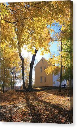 Minuteman National Historic Park Brooks House Canvas Print by John Burk