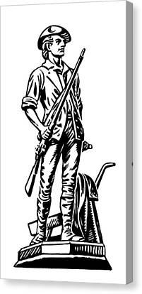 Minutemen Canvas Print by Granger