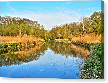 Mirror Canal Canvas Print by Frozen in Time Fine Art Photography