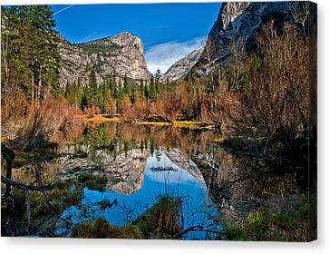 Mirror Lake Canvas Print by Cat Connor